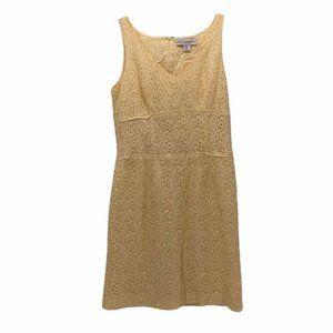 Petite Sophisticate Womens Dress Yellow Size 6P